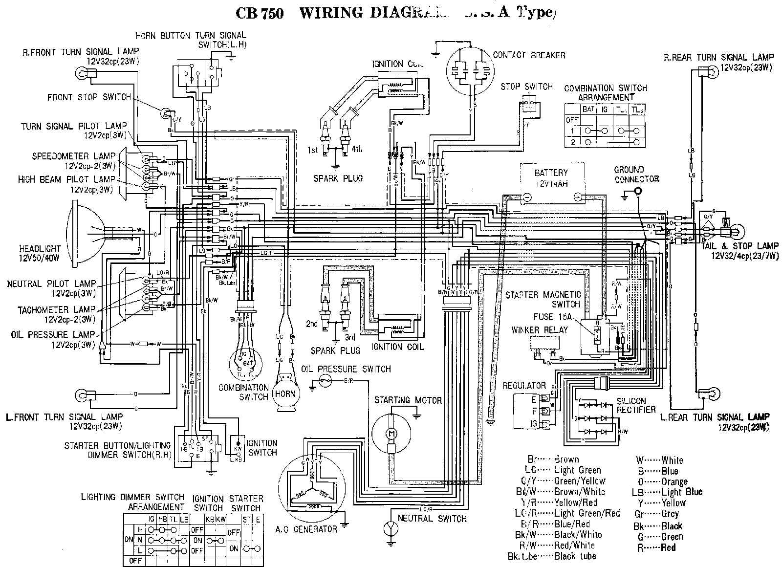 1976 Cb 750 Wiring Diagram