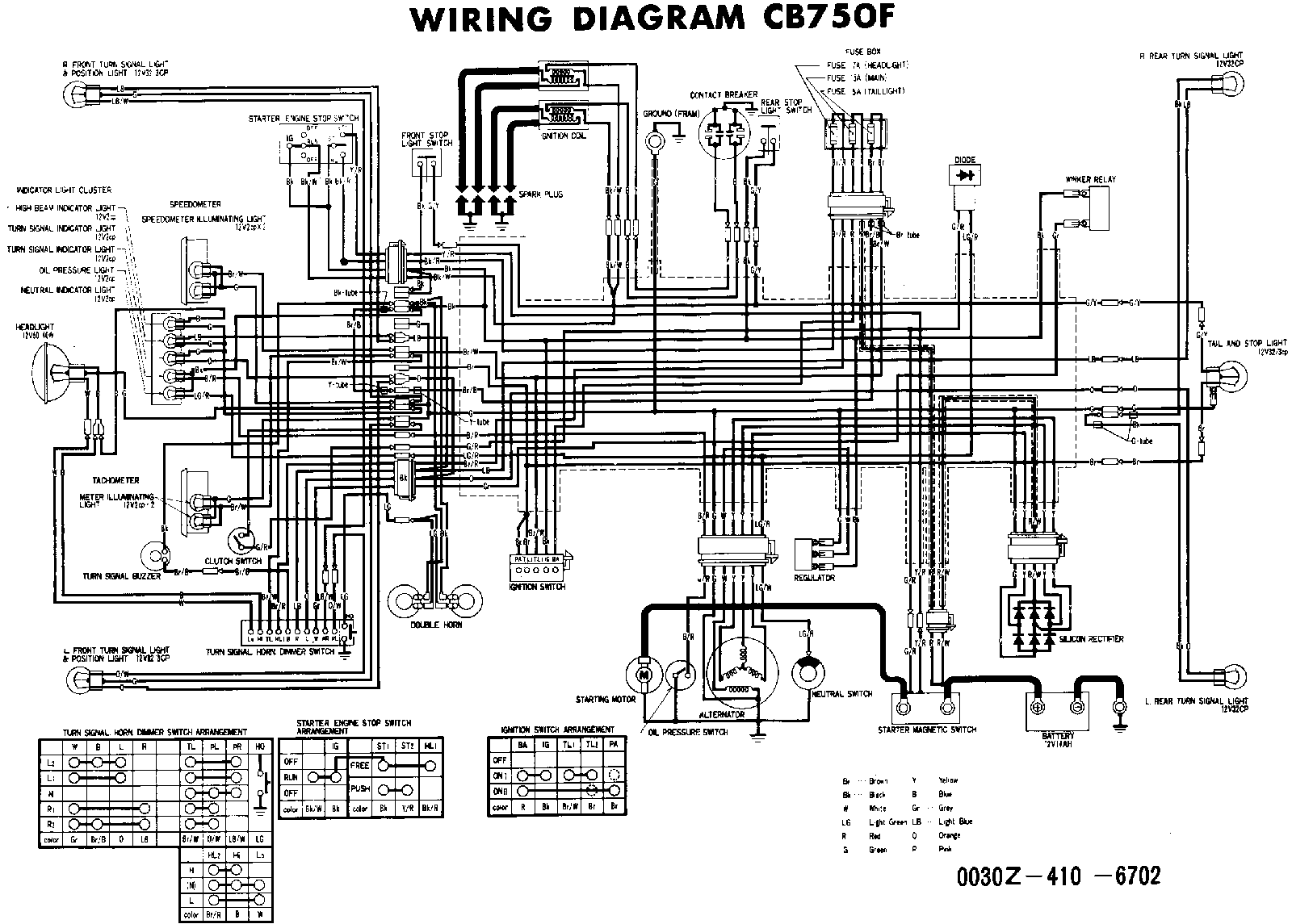 Travis's Album: Honda CB750 Wiring Diagrams