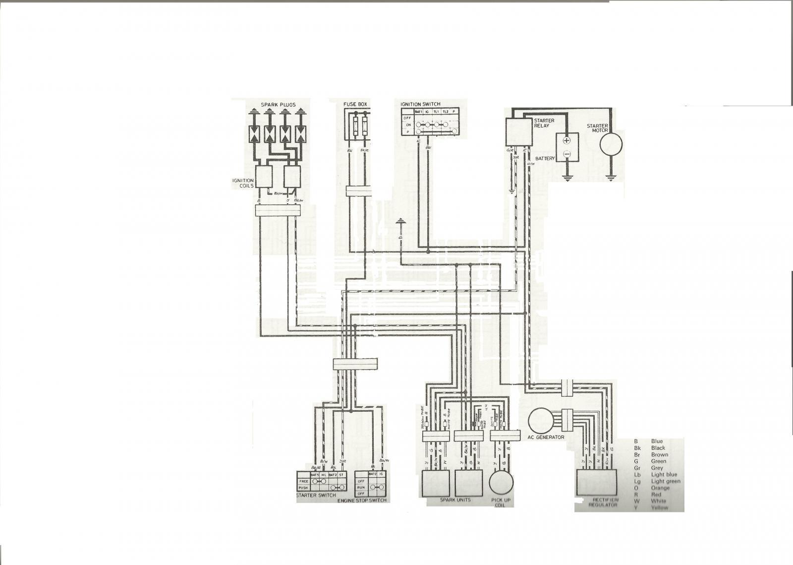 Honda CB750 Wiring Diagrams